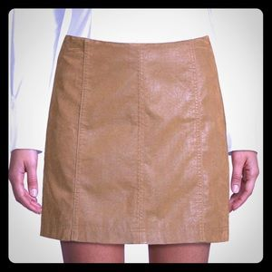 "New Free People Faux Mini Skirt in ""Cedar."""